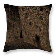 Cavern Walls Throw Pillow