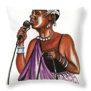 Cecile Kayirebwa Throw Pillow