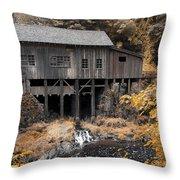 Cedar Creek Grist Mill Throw Pillow by Steve McKinzie