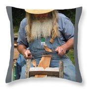 Cedar Shake Shavings Throw Pillow
