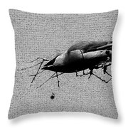 Cedar Waxwing - Bird - Enhanced Throw Pillow