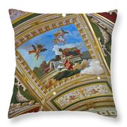 Ceiling Inside Venetian Hotel Throw Pillow