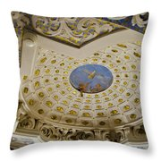 Ceiling With Foot Hanging Out Throw Pillow