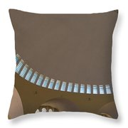 Ceiling With Windows Throw Pillow