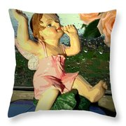 Celebrate The Rain With Roses 2 Throw Pillow