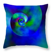 Celestial Nautilus Throw Pillow