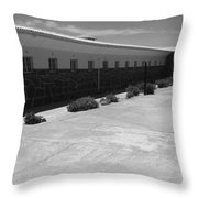 Prison Cell Row Throw Pillow
