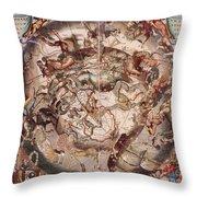 Cellariuss Constellations, 1660 Throw Pillow
