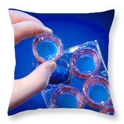 Cellular Model Of Nutrient Absorption Throw Pillow