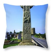 Celtic High Cross At Drumcliff Throw Pillow