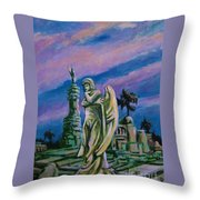 Cemetary Guardian Throw Pillow