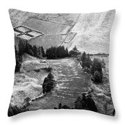 Cemetery And Pastures Throw Pillow