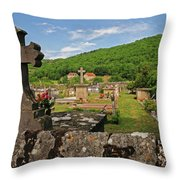 Cemetery In France Throw Pillow