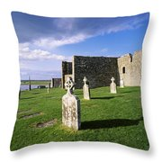 Cemetery In Front Of A Monastery Throw Pillow