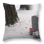 Cemetery In Winter Throw Pillow