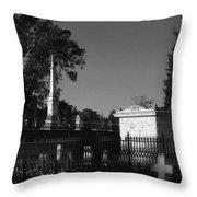 Cemetery- Natchez Mississippi Throw Pillow
