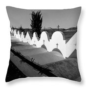 Cemetery Spain Three Throw Pillow