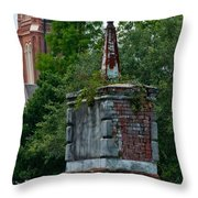 Cemetery Spires Throw Pillow