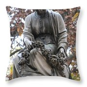 Cemetery Statue 4 Throw Pillow