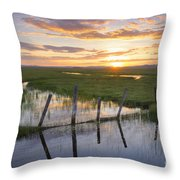 Centennial Sunset Throw Pillow