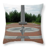 Center Of Europe. Lithuania Throw Pillow
