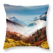 Central Balkan National Park Throw Pillow by Evgeni Dinev