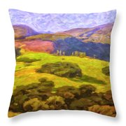 Central Coast Wine Country Throw Pillow
