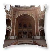 Central Cross Section Of Humayun Tomb In Delhi Throw Pillow