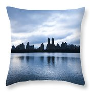 Central Park Lake Throw Pillow
