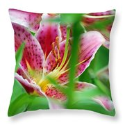 Central Park Lily Throw Pillow