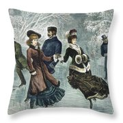 Central Park, Nyc, 1877 Throw Pillow
