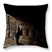 Central Park Sax Man Throw Pillow