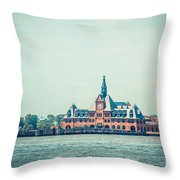 Central Railroad Terminal Of New Jersey Throw Pillow