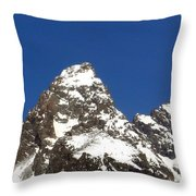 Central Teton Mountain Peak Throw Pillow