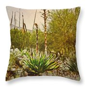 Century Plant Throw Pillow