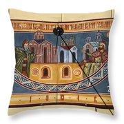 Ceramic Sundial Throw Pillow