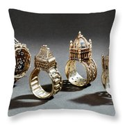 Ceremonial Marriage Rings Throw Pillow
