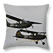 Cessna Bird Dog O-1el-19 Throw Pillow