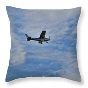 Cessna In Flight Throw Pillow