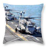 Ch-53e Super Stallion Helicopters Throw Pillow