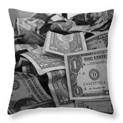 Cha Ching Throw Pillow