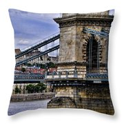 Chain Bridge  Budapest Throw Pillow