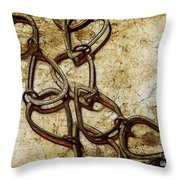 Chain Links Throw Pillow by Judi Bagwell