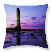 Chaine Memorial Tower, Larne Harbour Throw Pillow