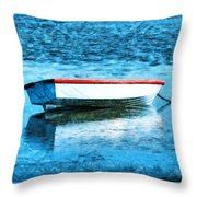 Chained By The Tide  Throw Pillow