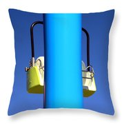 Chairlift Cart Throw Pillow