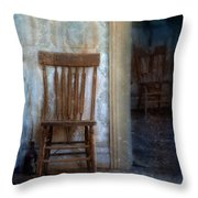 Chairs In Rundown House Throw Pillow