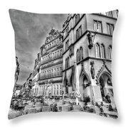 Chairs In The Square Throw Pillow