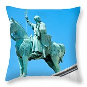 Chalemagne At Sacre Coeur Basilica Throw Pillow