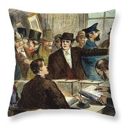 Challenging A Voter, 1872 Throw Pillow